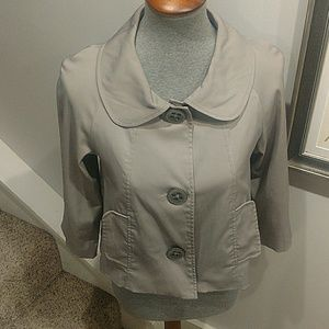 Vertigo Paris Jackets & Coats - Vertigo Paris Size Small Gray Cropped Jacket